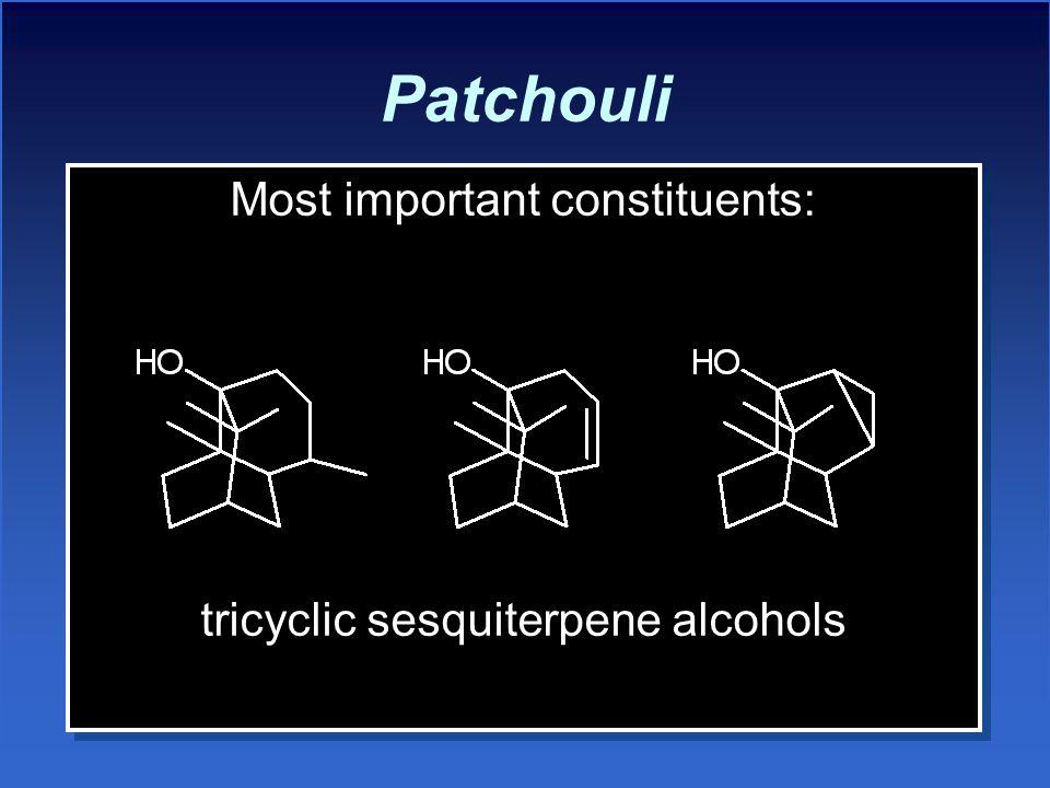 Patchouli Most important constituents: