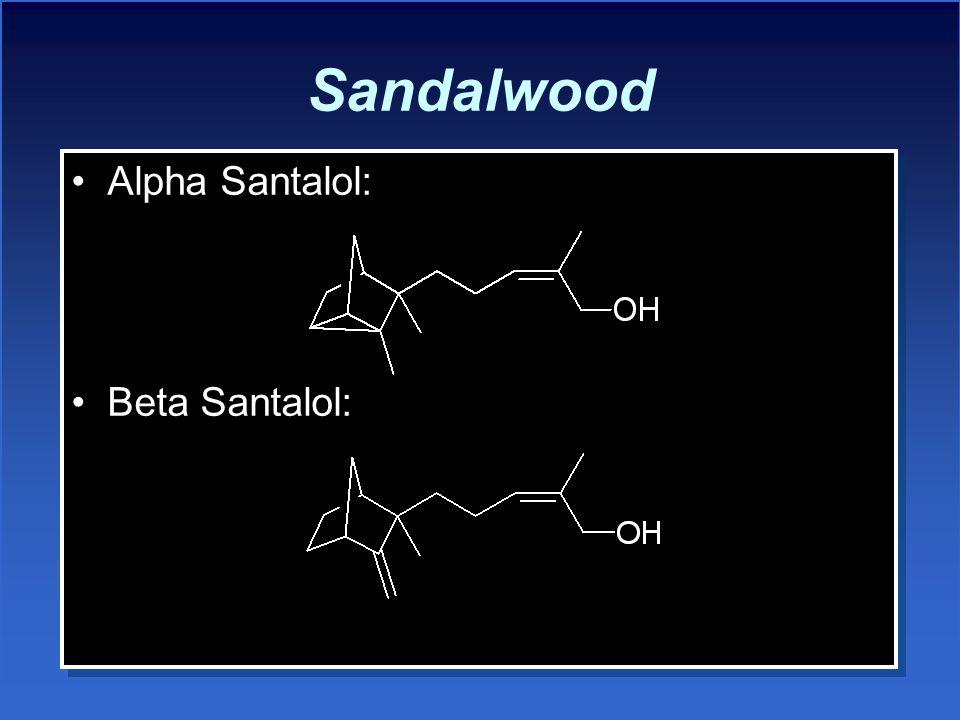 Sandalwood Alpha Santalol: Beta Santalol: