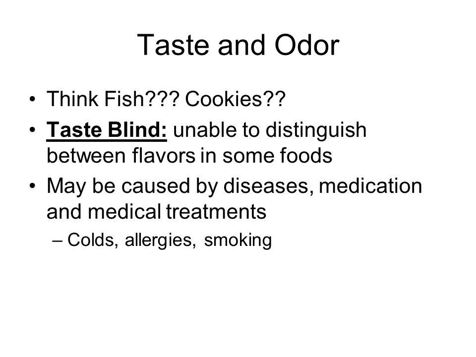 Taste and Odor Think Fish Cookies