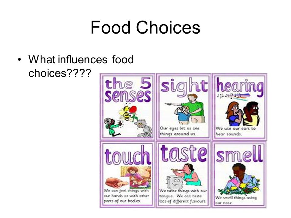 Food Choices What influences food choices