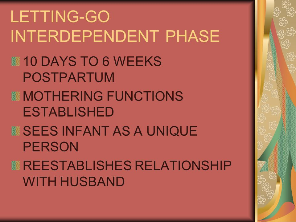 LETTING-GO INTERDEPENDENT PHASE