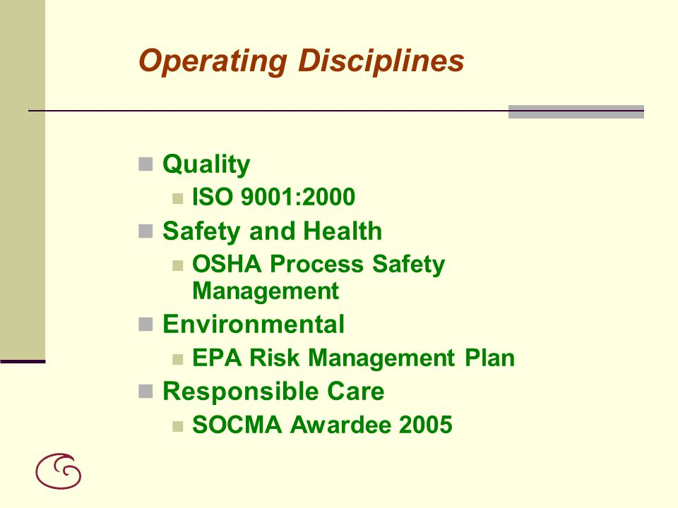 Operating Disciplines