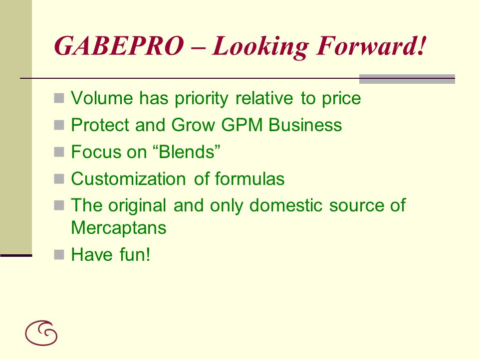 GABEPRO – Looking Forward!