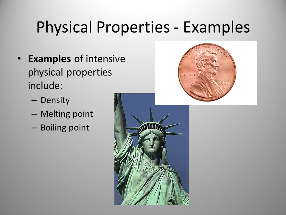 Chemical and physical properties - ppt video online download What Are Some Examples Of Physical Properties