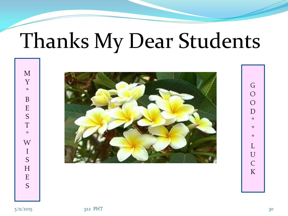 Thanks My Dear Students