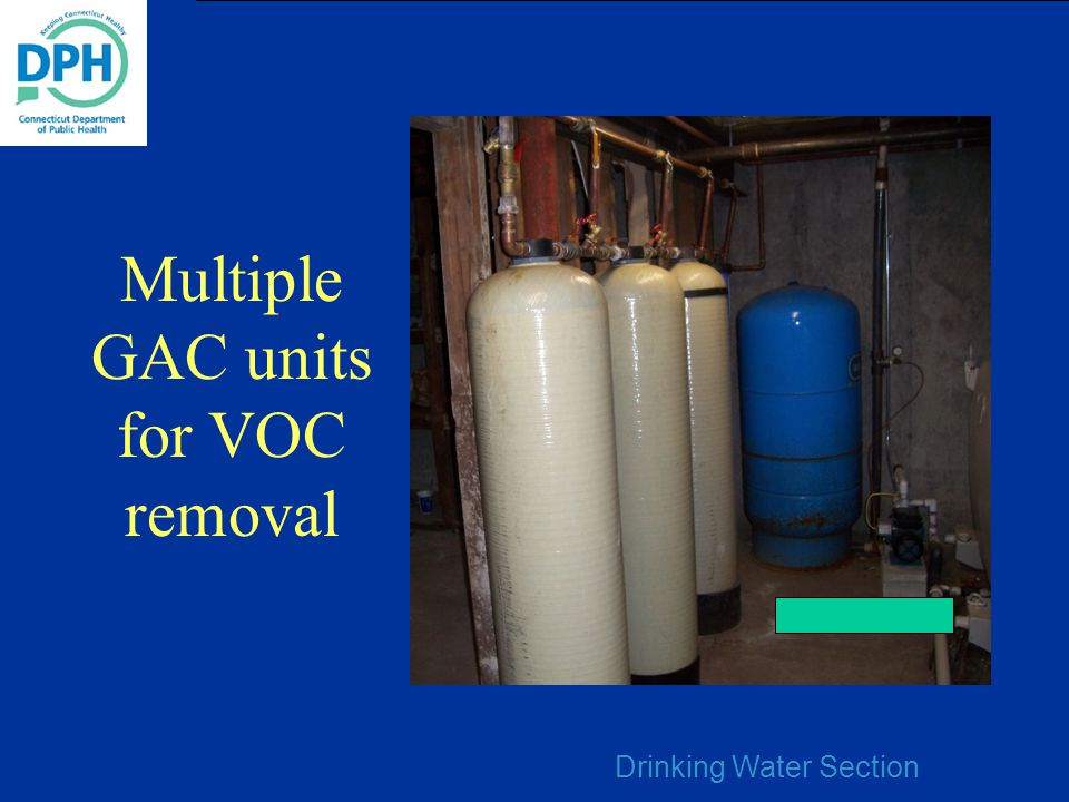 Multiple GAC units for VOC removal