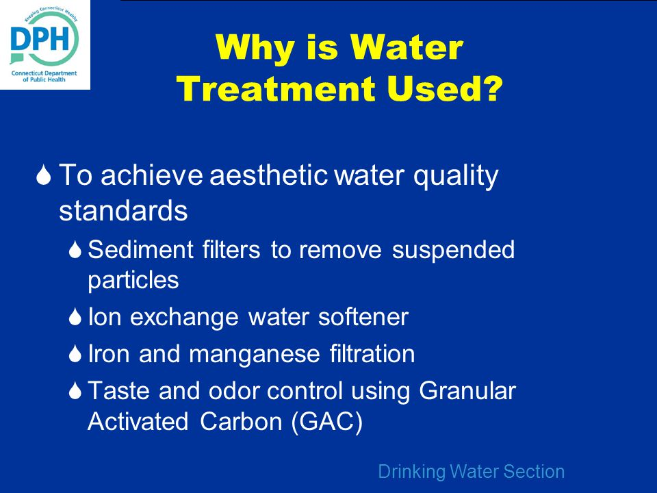 Why is Water Treatment Used
