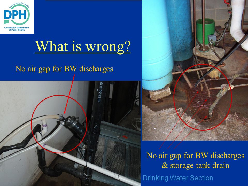 What is wrong No air gap for BW discharges