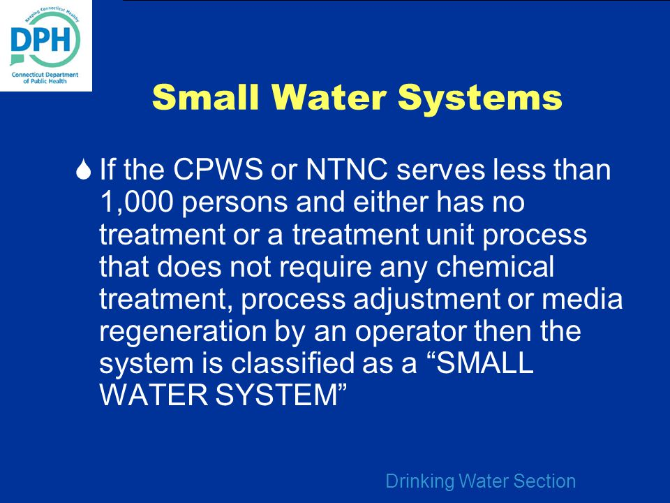 Small Water Systems