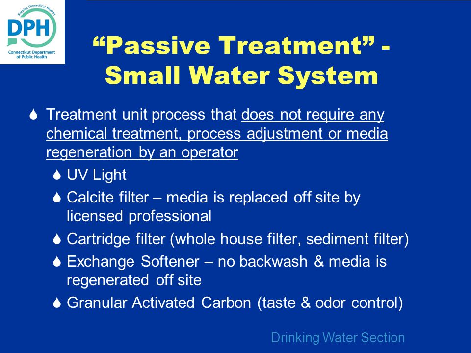 Passive Treatment - Small Water System