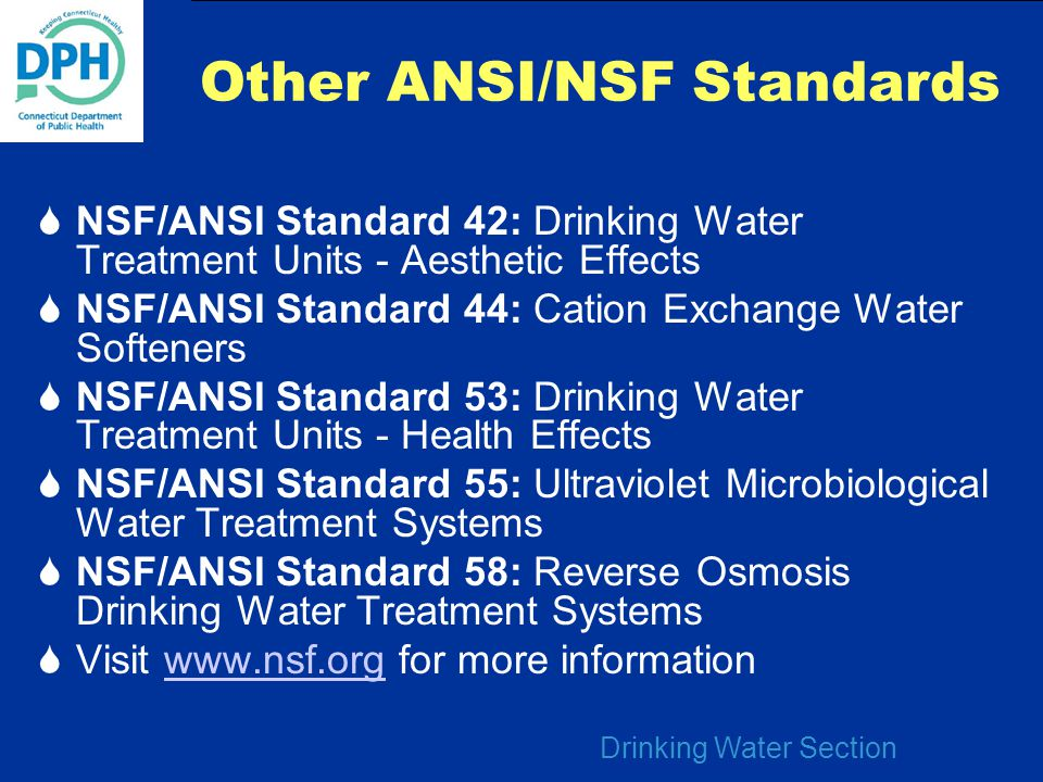 Other ANSI/NSF Standards