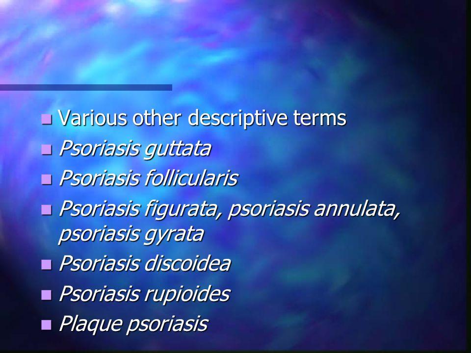 Various other descriptive terms