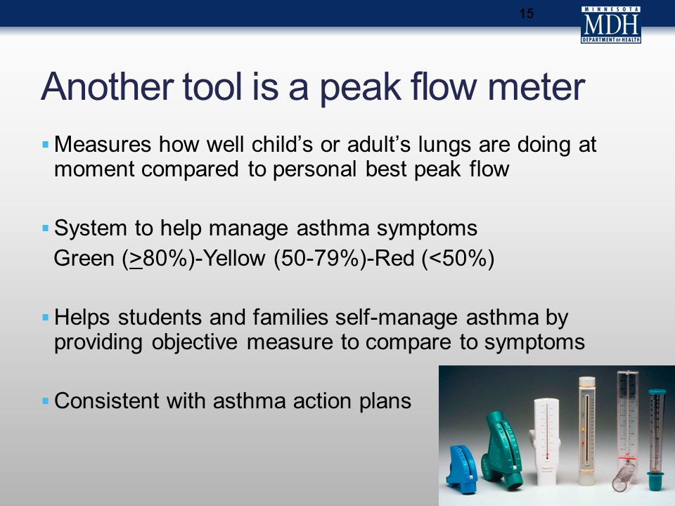 Another tool is a peak flow meter