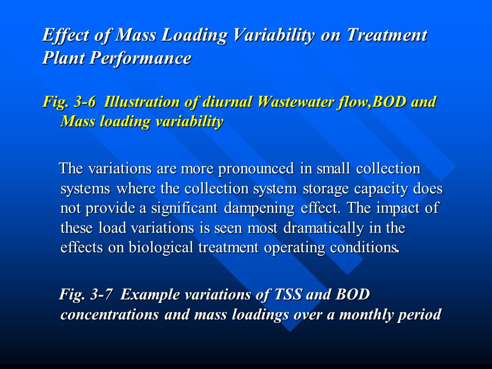 Effect of Mass Loading Variability on Treatment Plant Performance