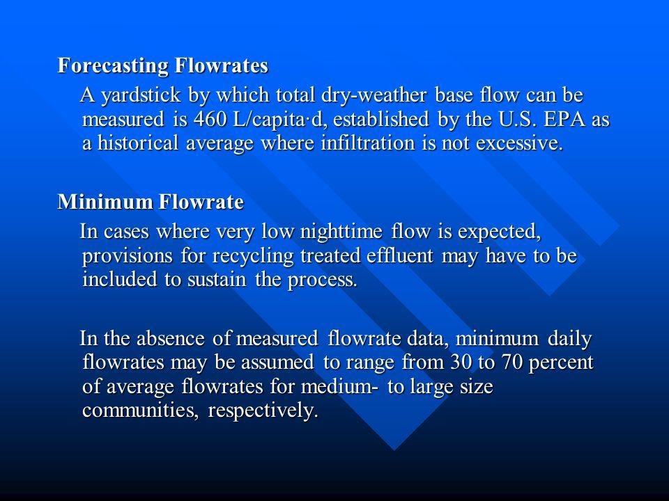 Forecasting Flowrates