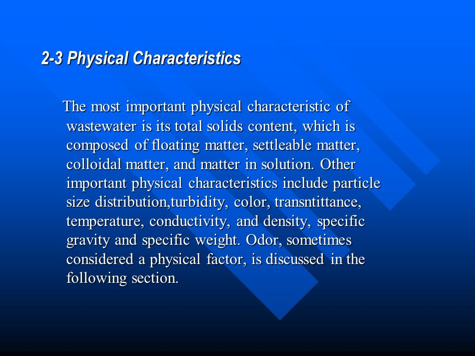 2-3 Physical Characteristics