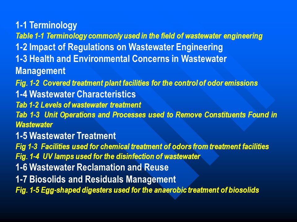 1-2 Impact of Regulations on Wastewater Engineering