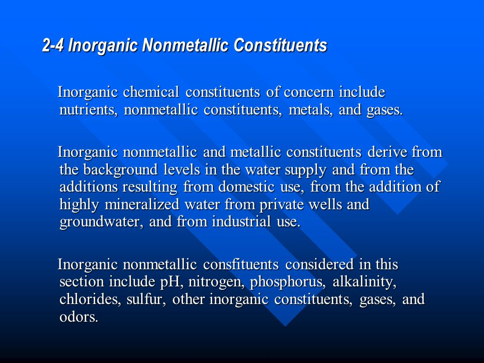 2-4 Inorganic Nonmetallic Constituents