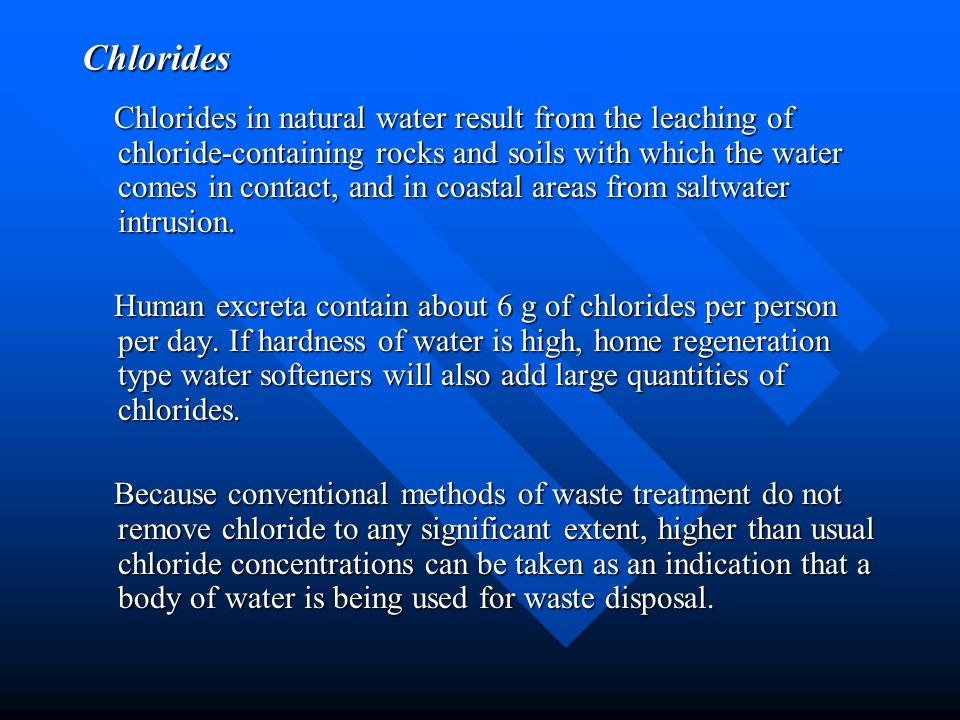 Chlorides
