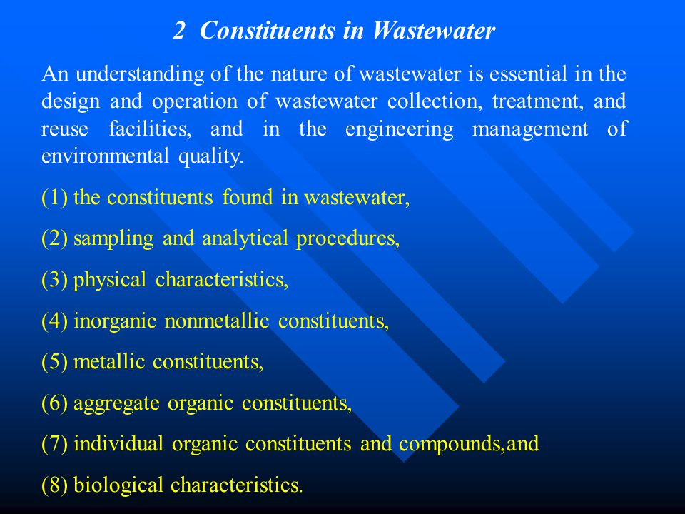2 Constituents in Wastewater