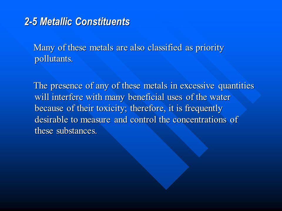 2-5 Metallic Constituents