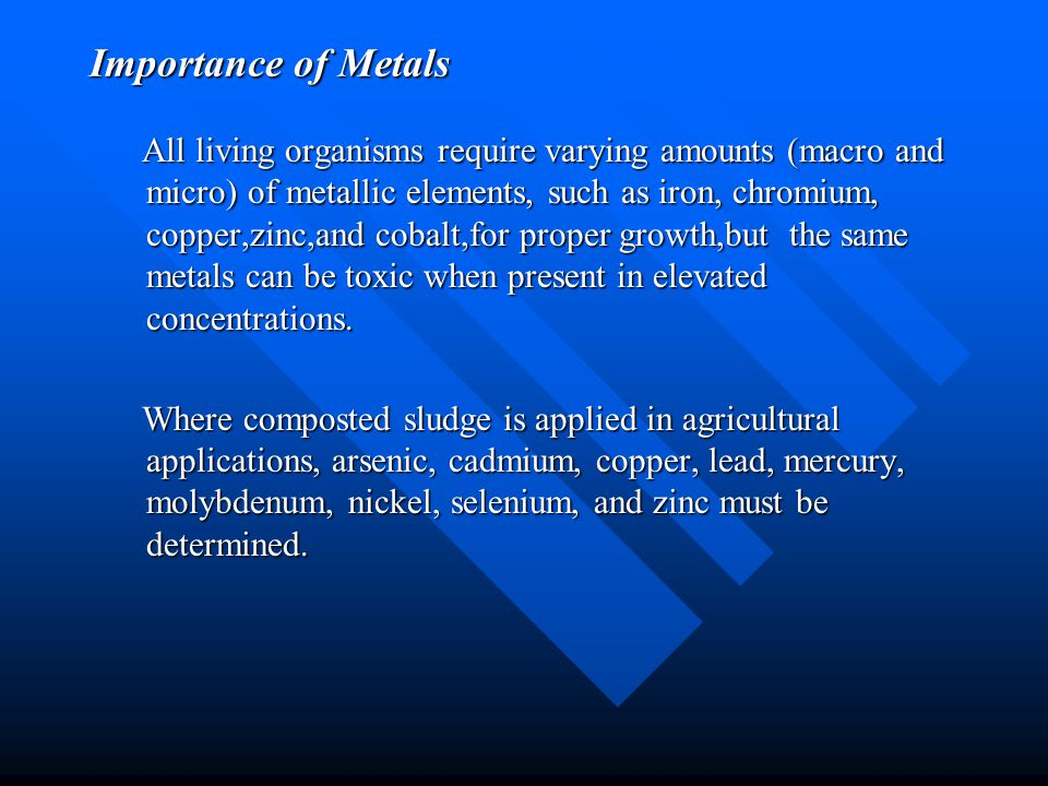 Importance of Metals