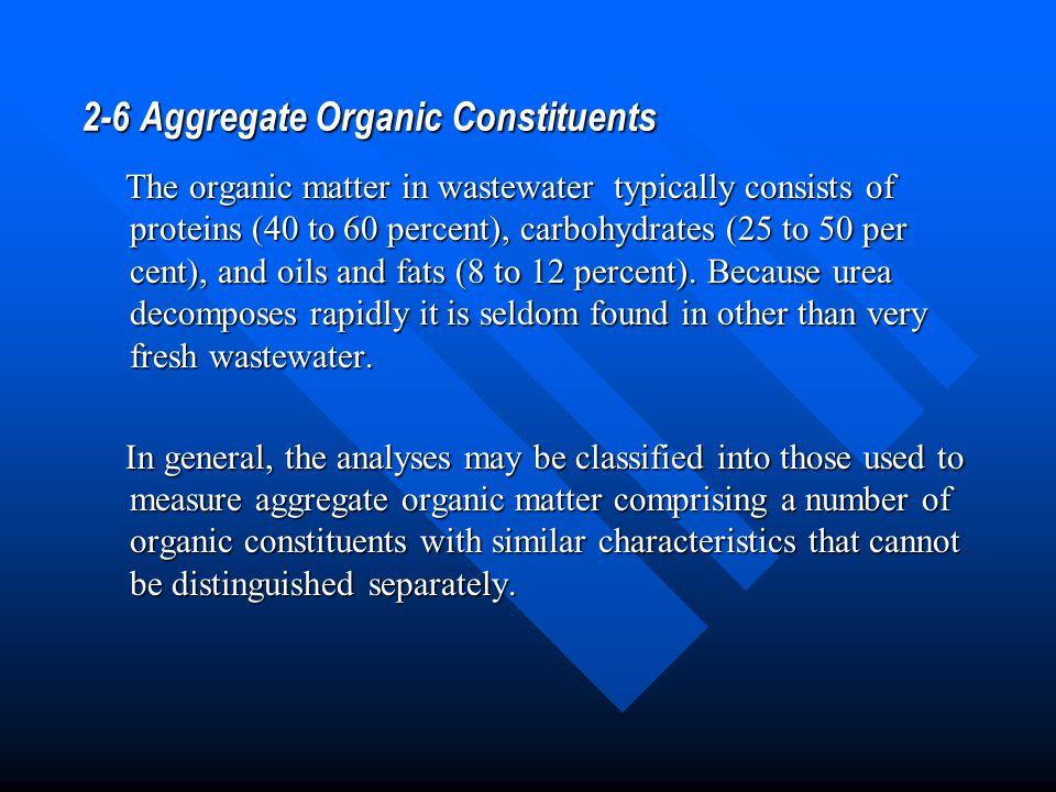 2-6 Aggregate Organic Constituents