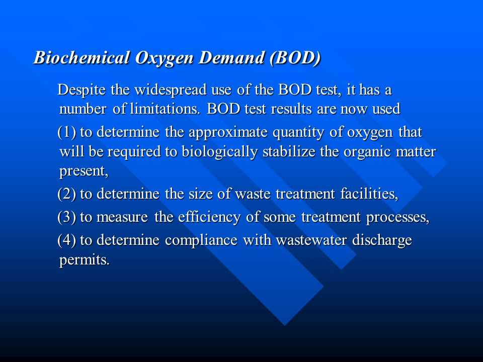 Biochemical Oxygen Demand (BOD)