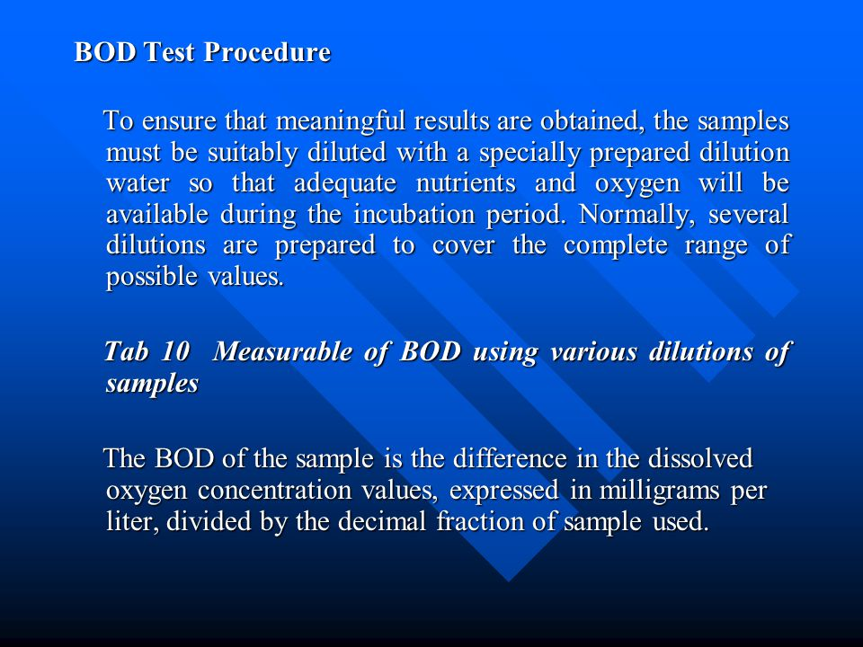 BOD Test Procedure
