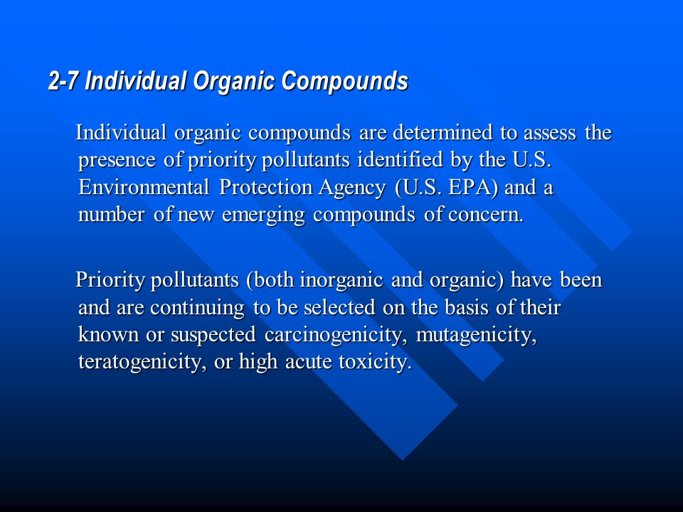 2-7 Individual Organic Compounds
