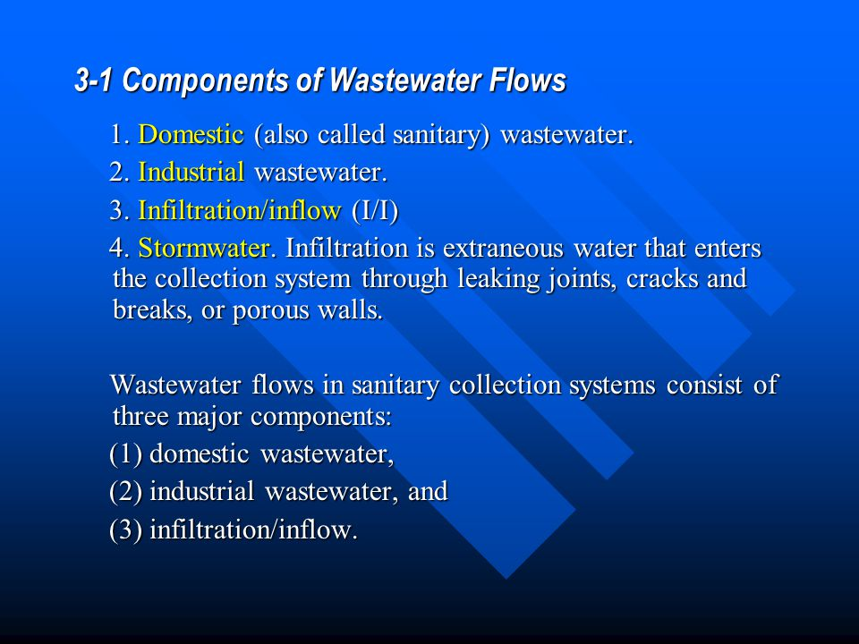 3-1 Components of Wastewater Flows
