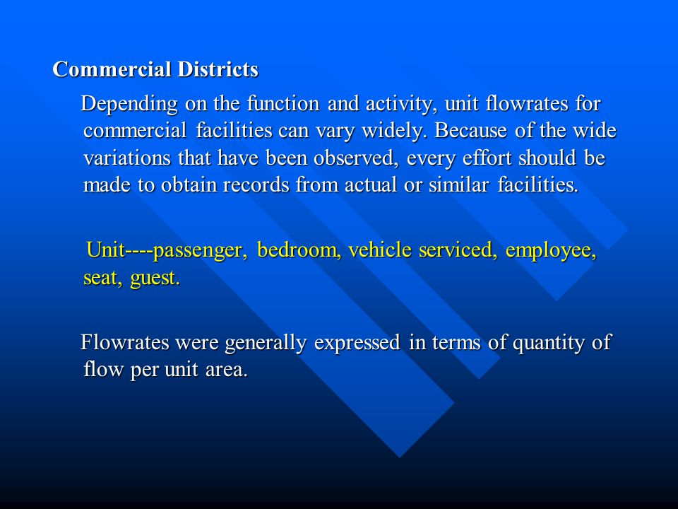 Commercial Districts