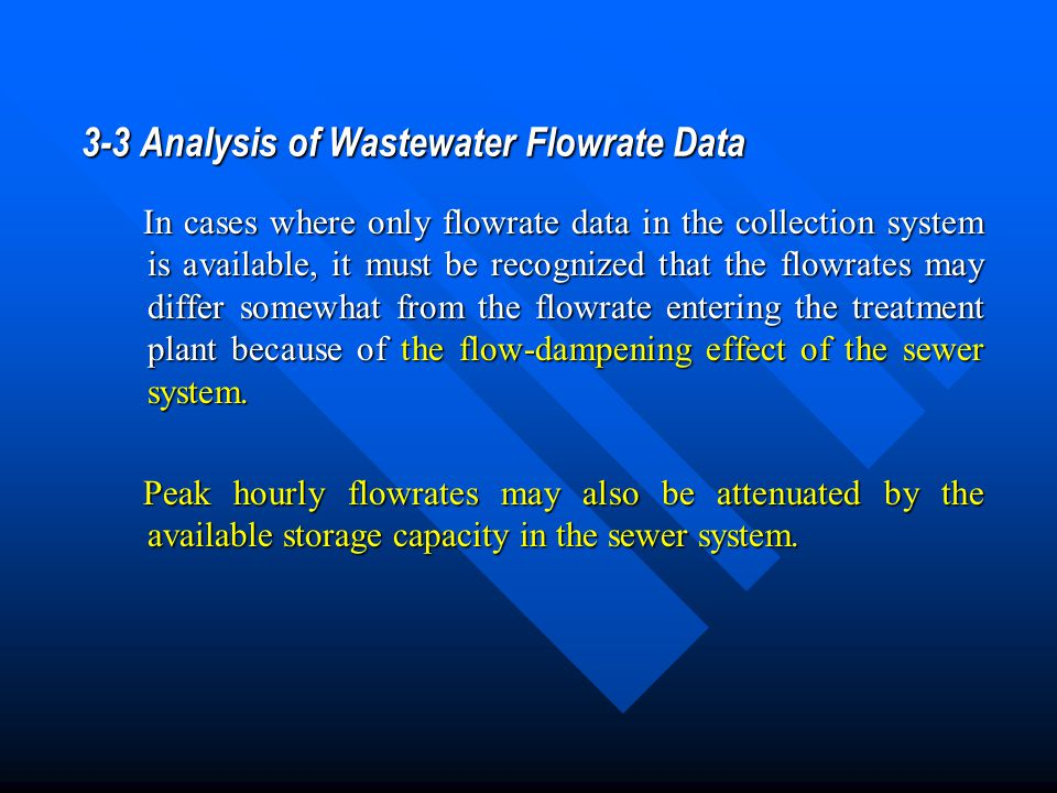 3-3 Analysis of Wastewater Flowrate Data