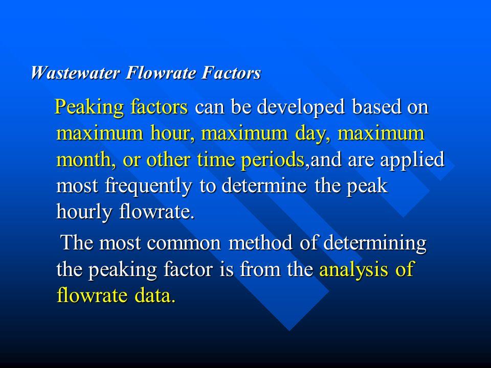 Wastewater Flowrate Factors