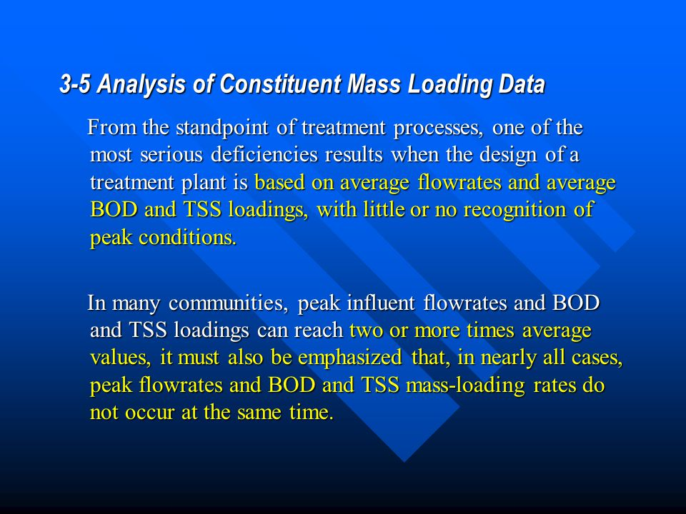 3-5 Analysis of Constituent Mass Loading Data