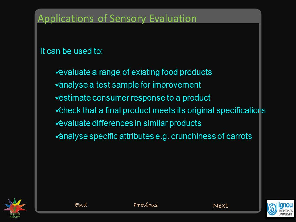 Applications of Sensory Evaluation
