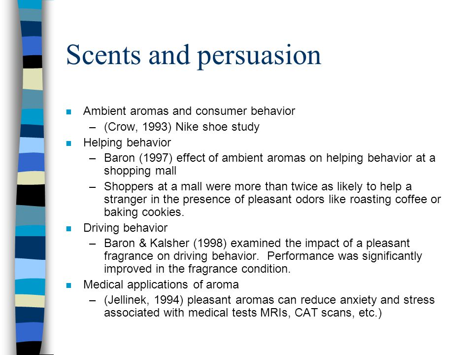 Scents and persuasion Ambient aromas and consumer behavior
