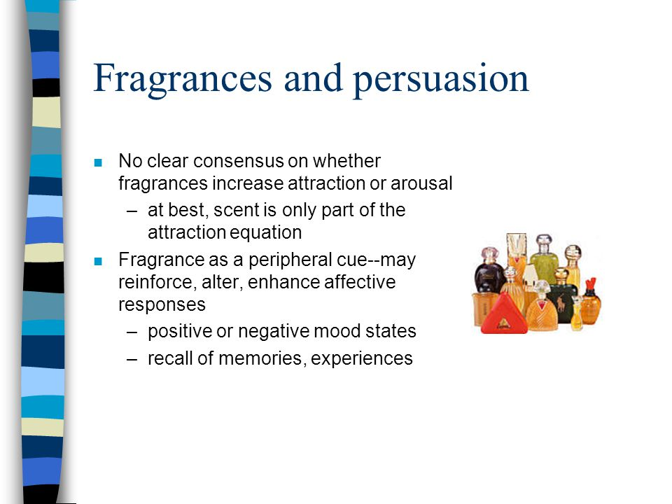 Fragrances and persuasion