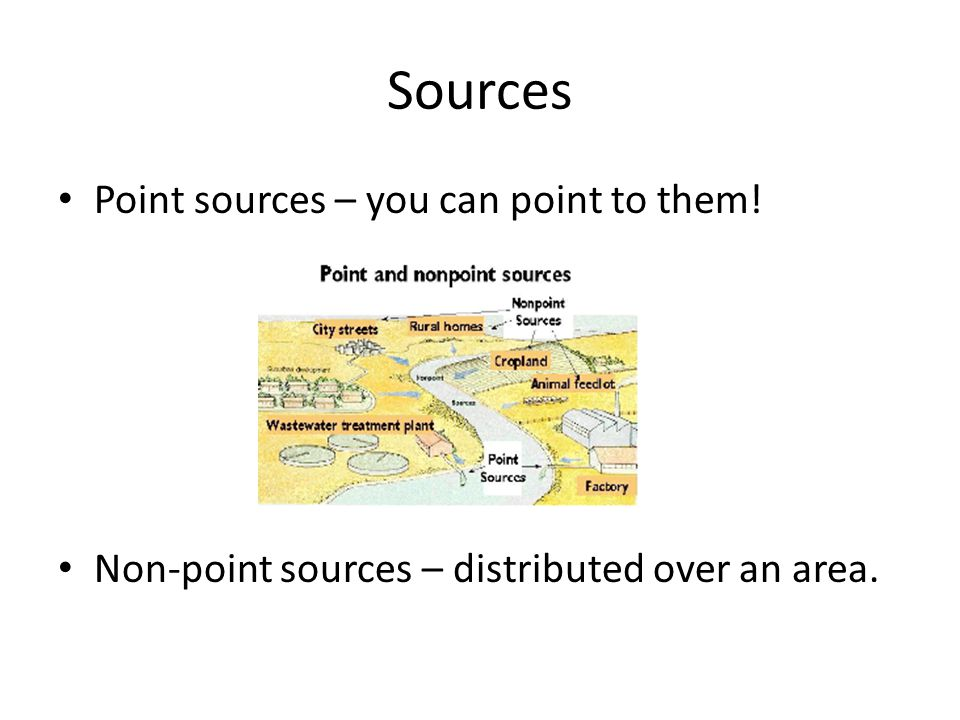 Sources Point sources – you can point to them!