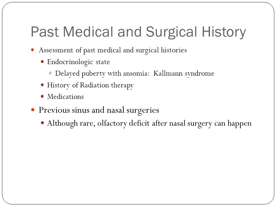 Past Medical and Surgical History