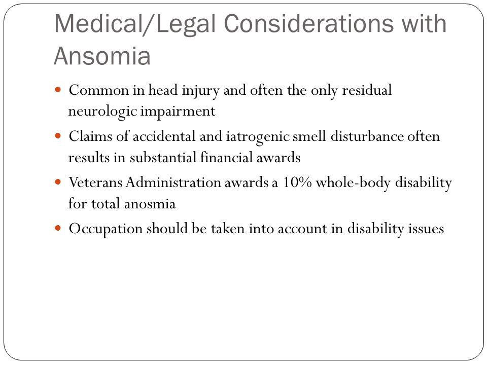 Medical/Legal Considerations with Ansomia