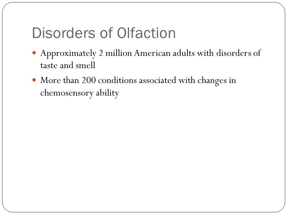 Disorders of Olfaction