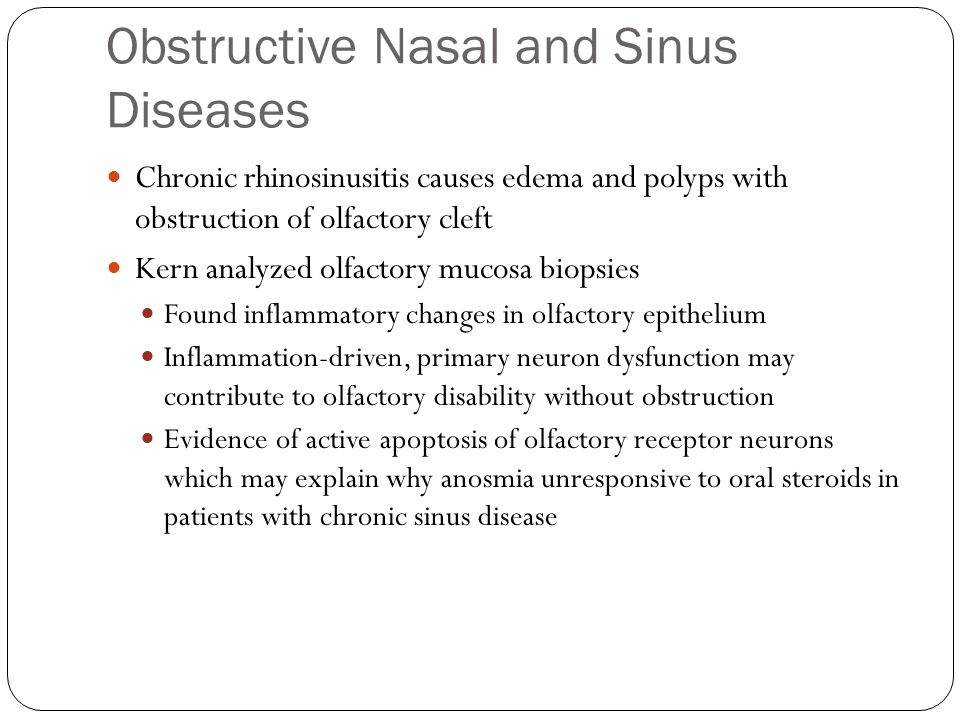 Obstructive Nasal and Sinus Diseases