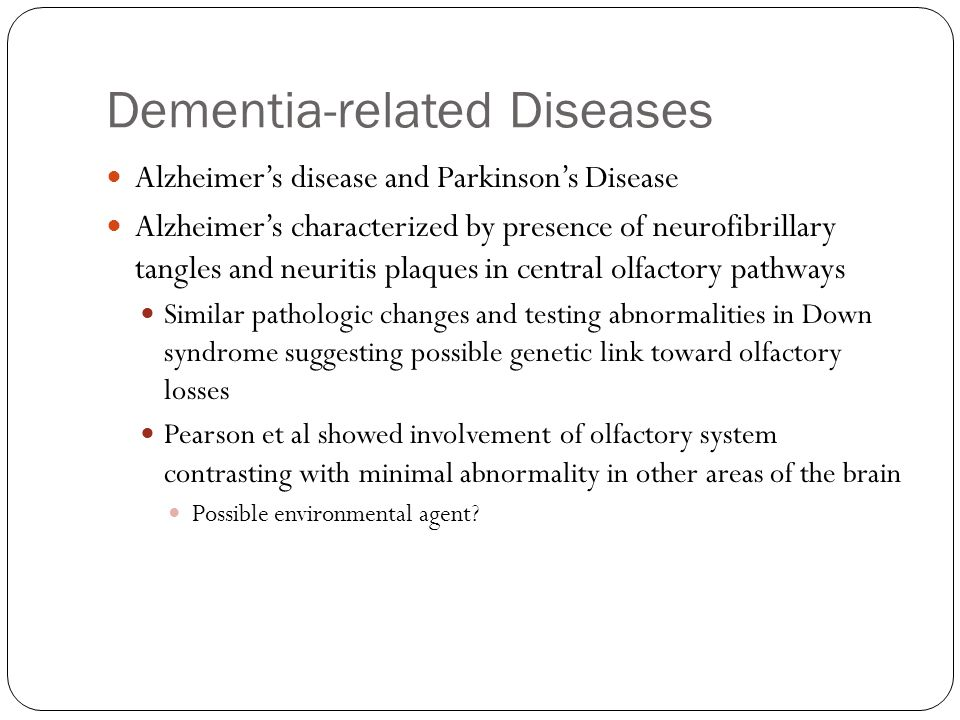 Dementia-related Diseases