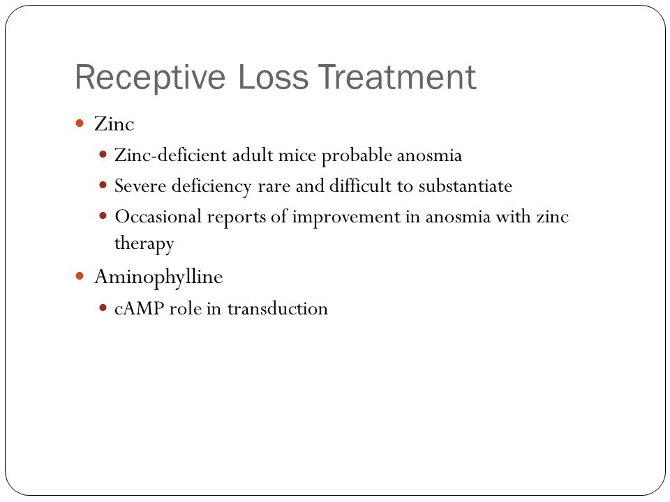 Receptive Loss Treatment