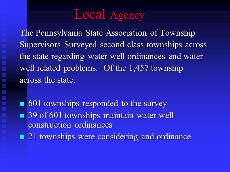 Local Agency The Pennsylvania State Association of Township