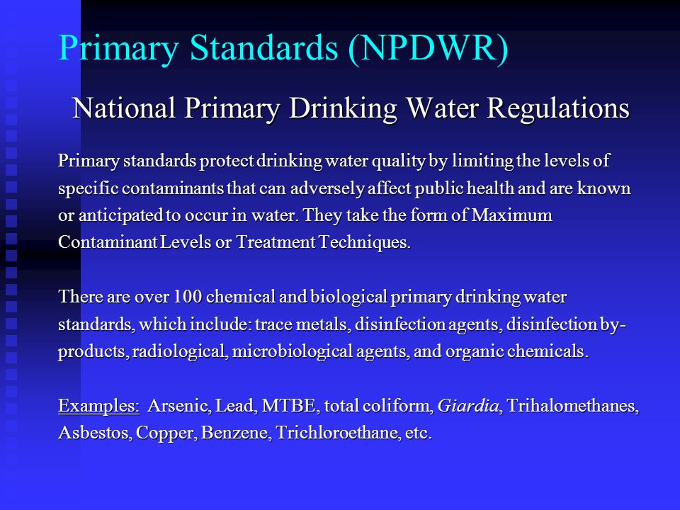 Primary Standards (NPDWR)