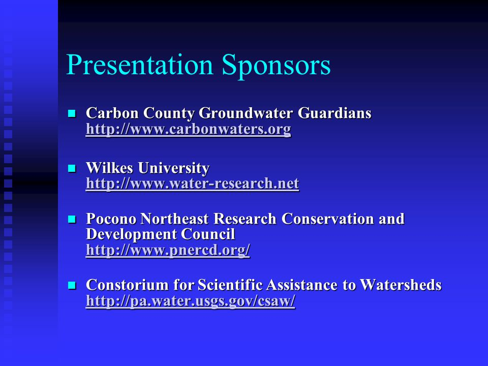 Presentation Sponsors