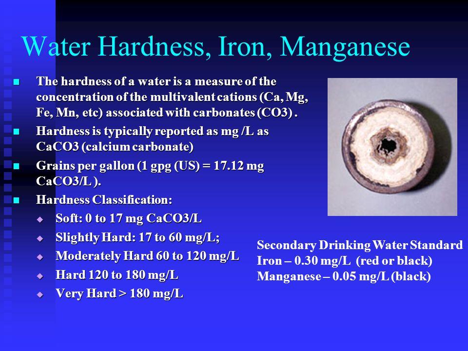 Water Hardness, Iron, Manganese