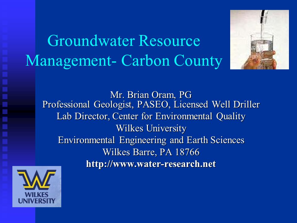 Groundwater Resource Management- Carbon County